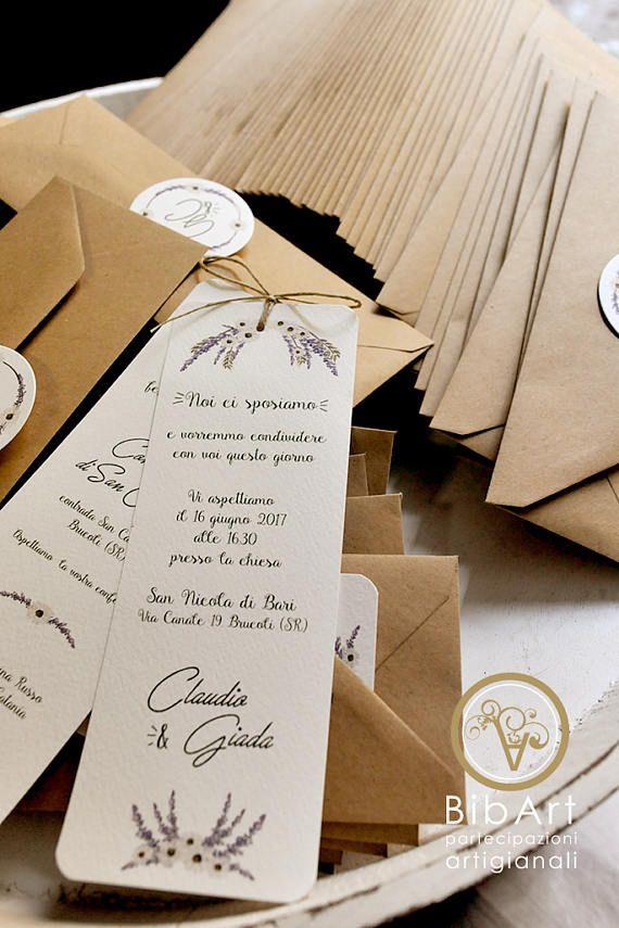 Partecipazioni Matrimonio Lavanda.Partecipazione Invito Nozze Matrimonio Tema Lavanda