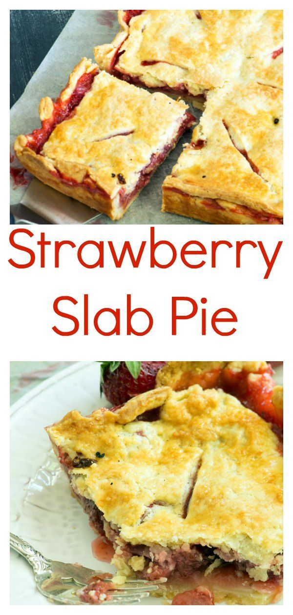 Food Photography - Strawberry Slab Pie Food Photography - Strawberry Slab Pie