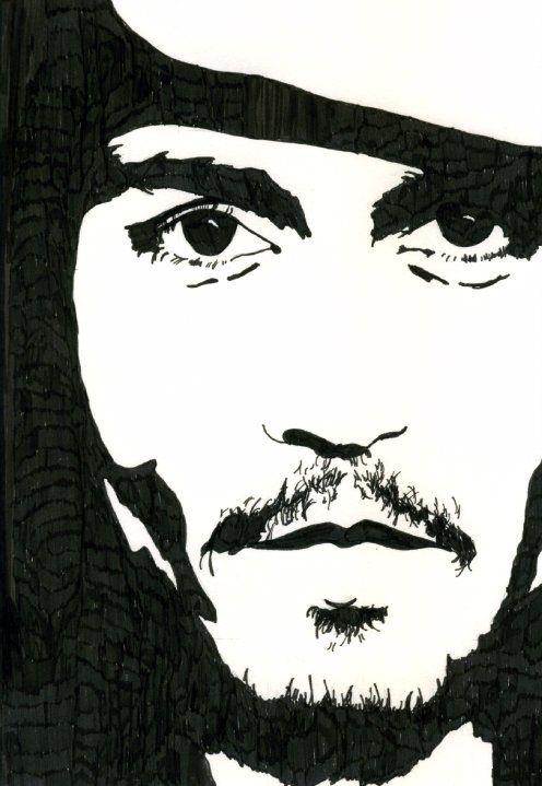 Johnny depp sketch drawing art johnny depp art ve drawings - Dessin johnny depp ...