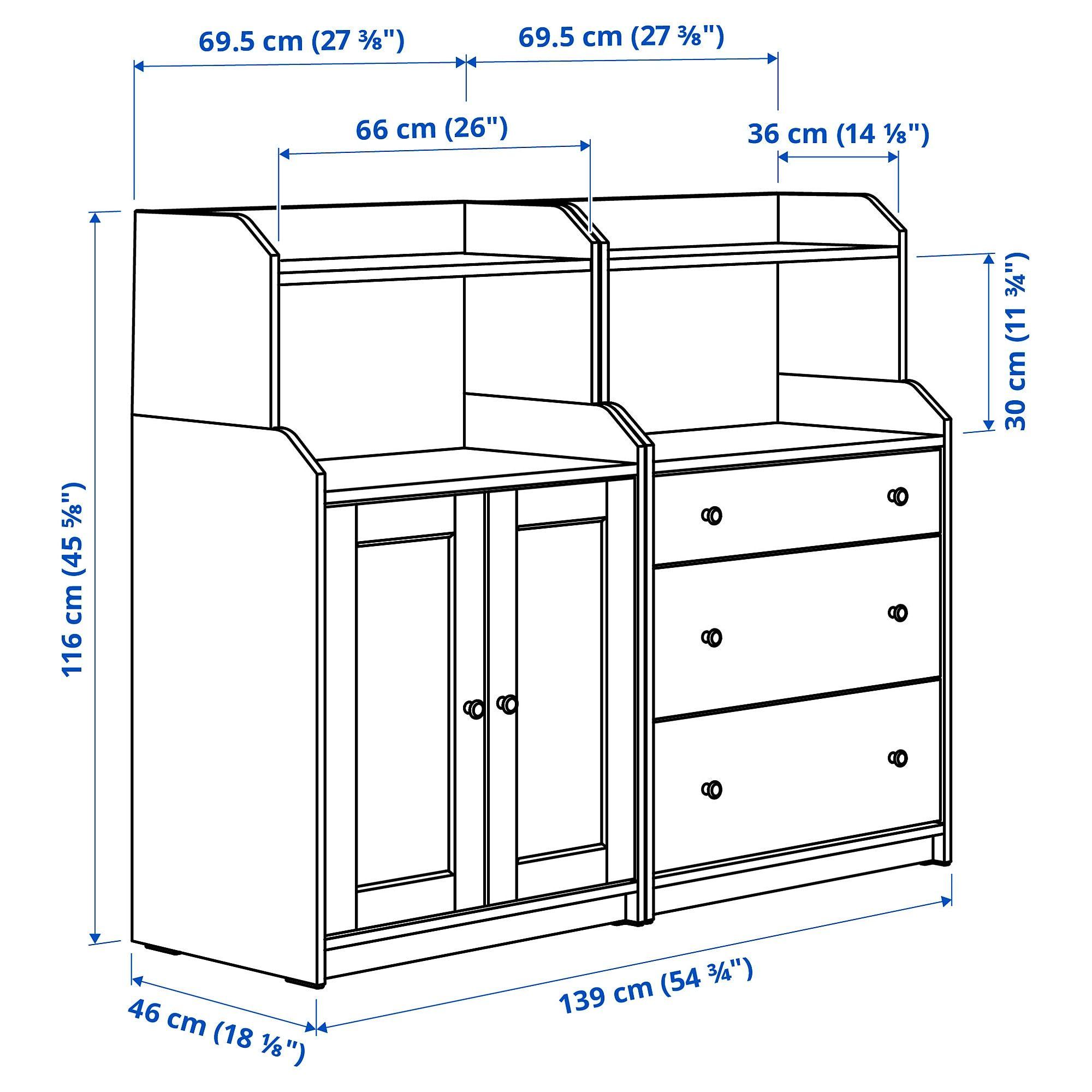 Hauga Storage Combination Gray Ikea In 2021 Painted Drawers Ikea Storage [ 2000 x 2000 Pixel ]