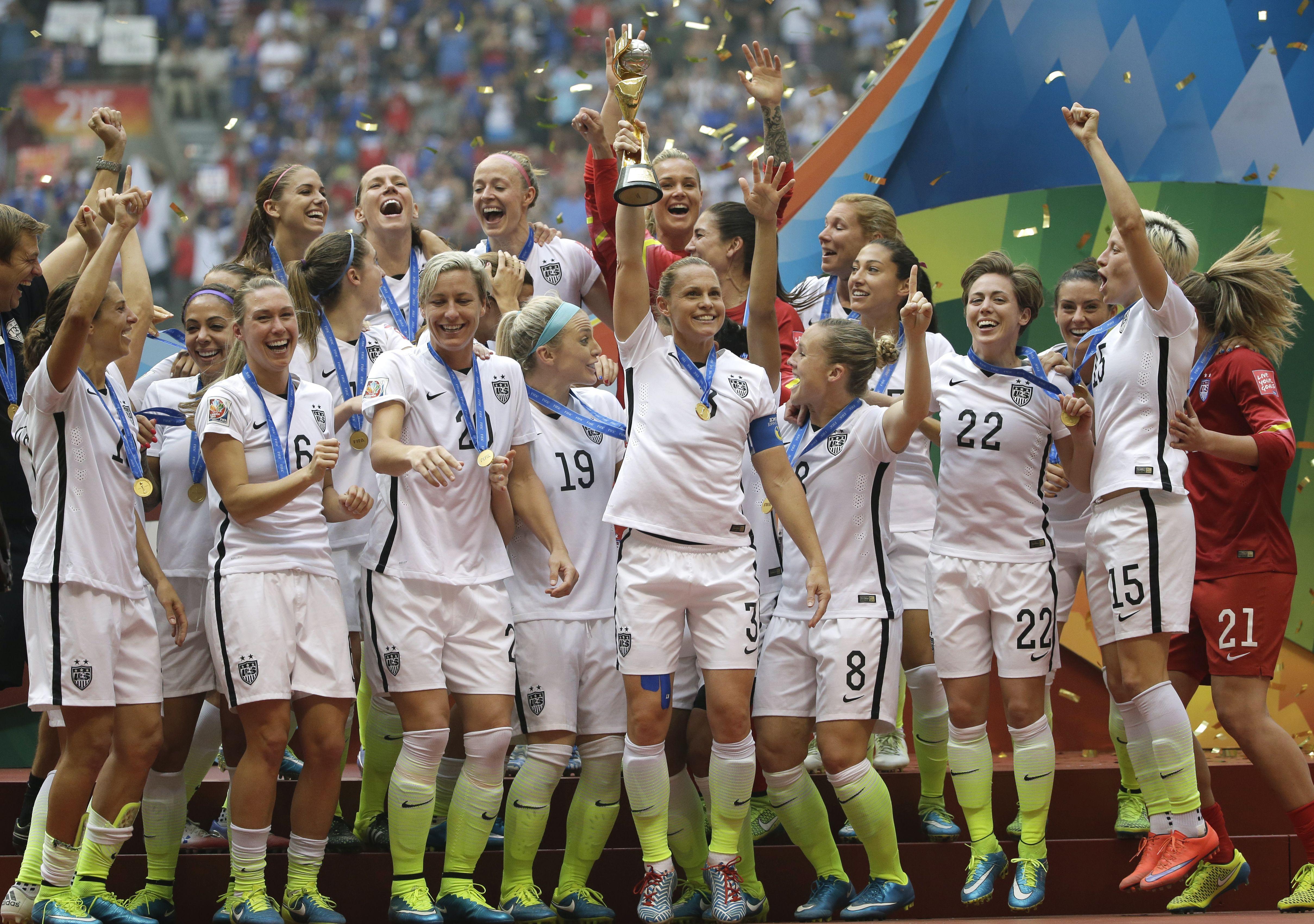 World Cup Champion U S Women Soccer Players Demand Equal Pay Soccer Womens Soccer Women S Soccer Team