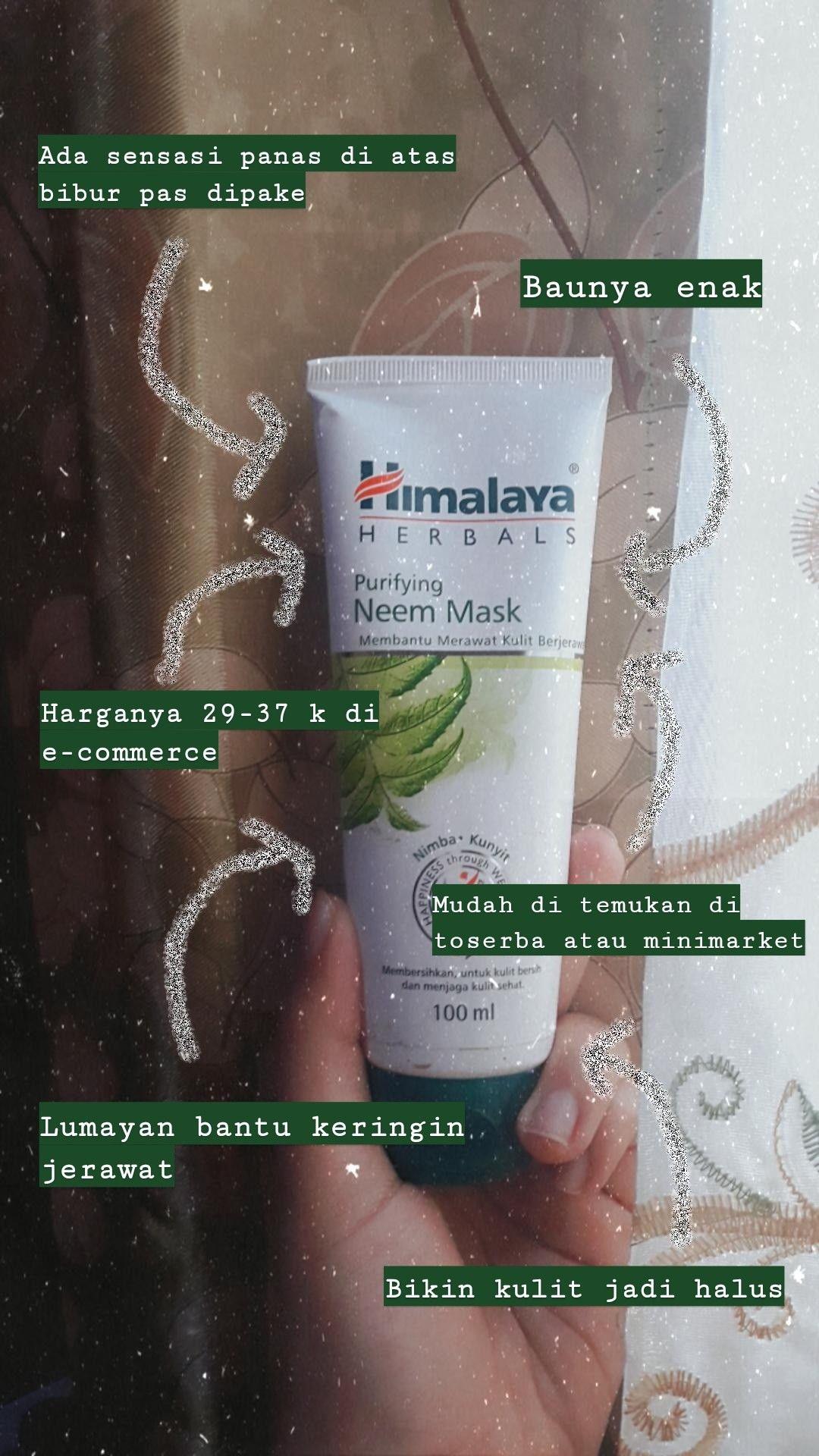 Masker Himalaya Neem Mask Review Bekas Jerawat