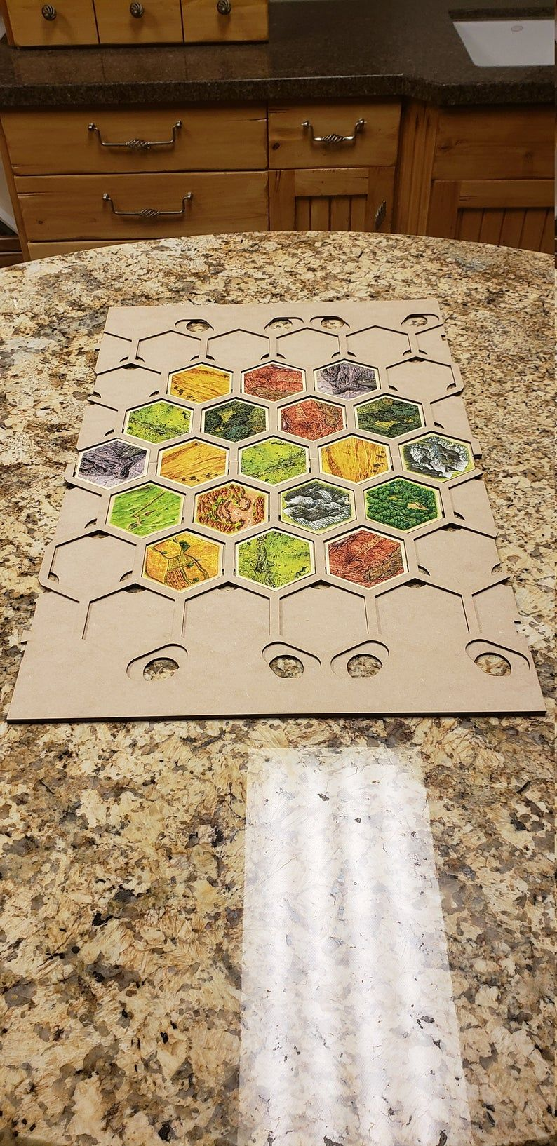 4 or 6 Player Settlers Island Hex Board 65 or More Tile