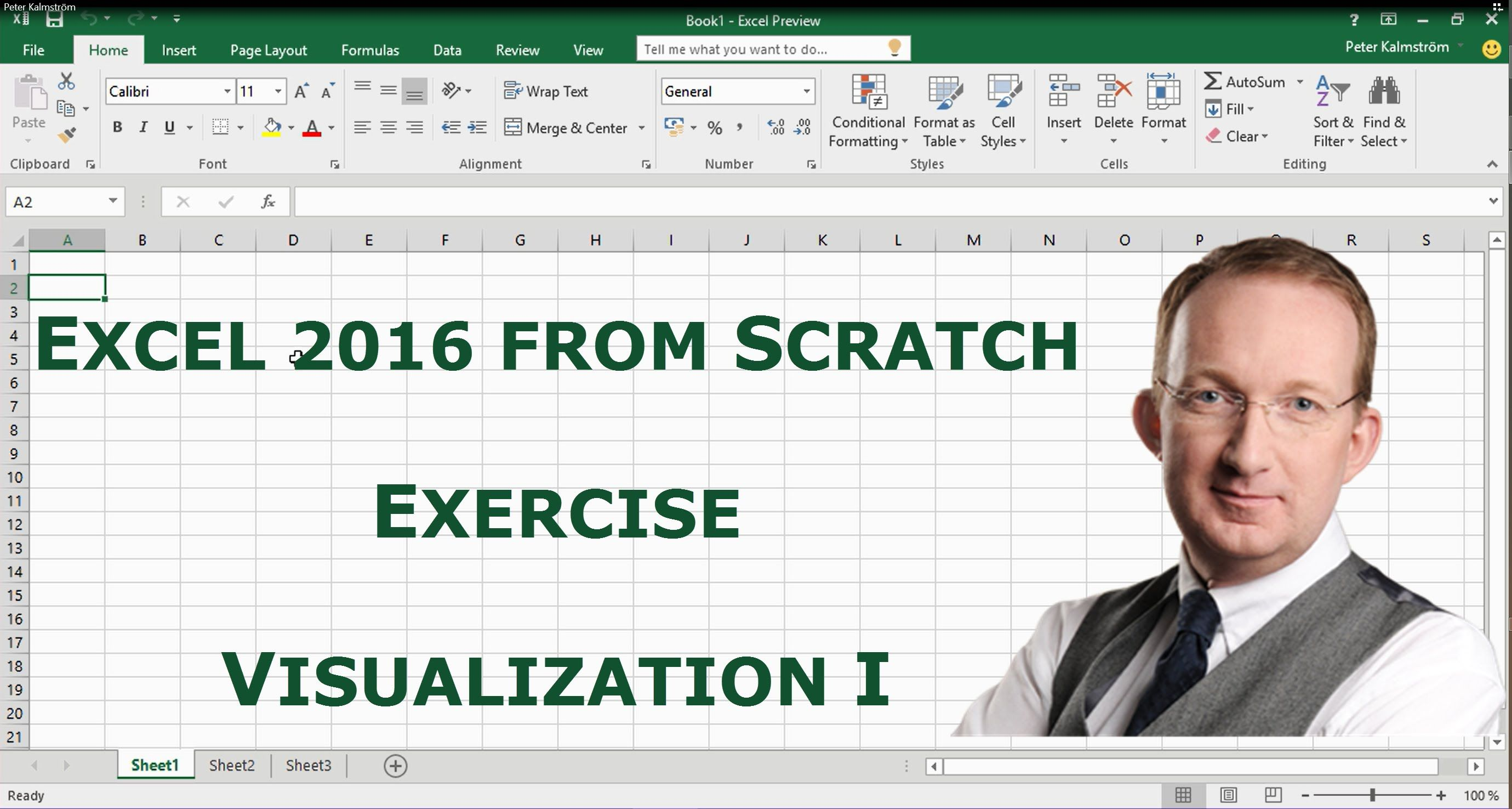 *Excel 2016 from Scratch. Exercise - Visualization I*  Excel 2016 course, also suitable for earlier versions. In this demo Peter Kalmstrom gives tips on pivot table views. Also refer to http://www.kalmstrom.com/Tips/Excel-2..., where you can download the file Peter is working with and try for yourself!