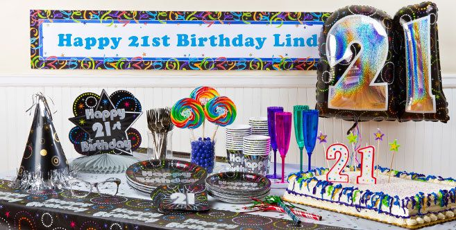 21st Birthday Party Supplies