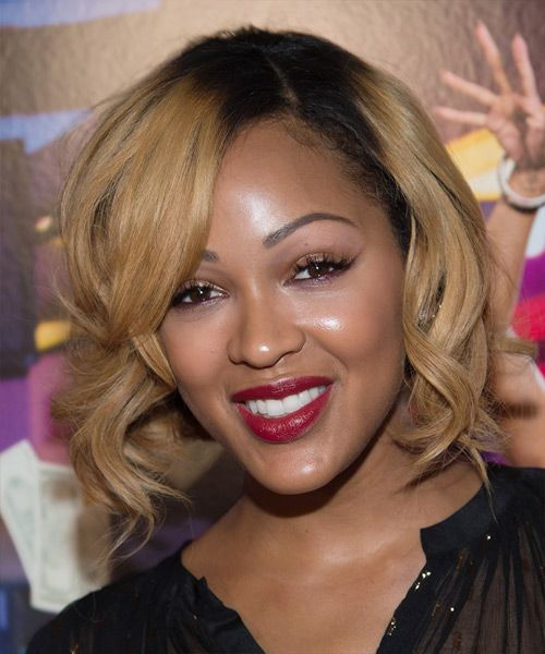 Meagan good medium wavy formal hairstyle dark blonde hair color meagan good hairstyle medium wavy formal try on this hairstyle and view styling steps pmusecretfo Gallery