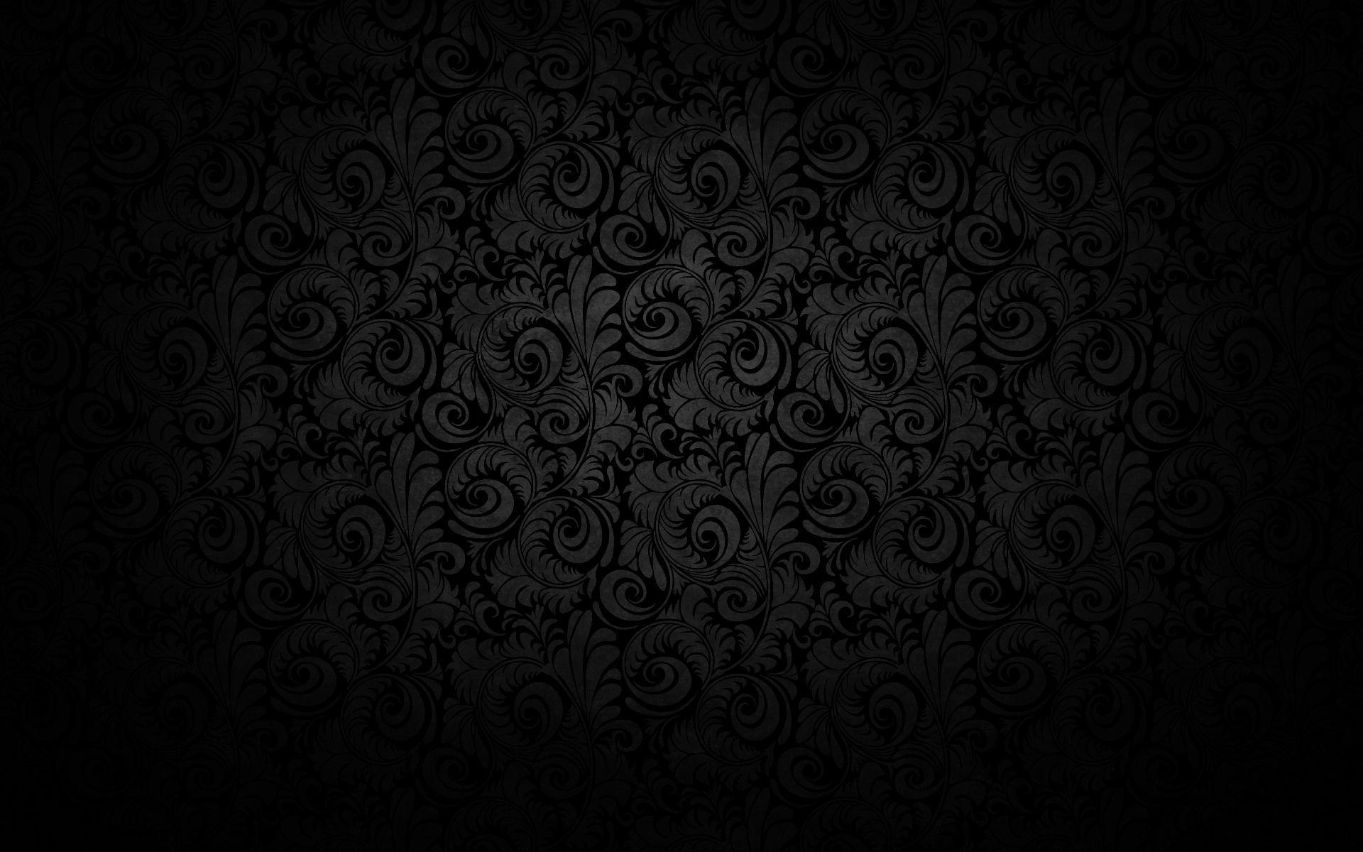 Dark Floral Random Dark Wallpaper Black Background