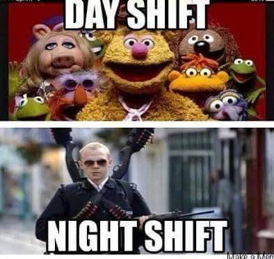 Day Shift Vs Night Shift Thanks To Healthcare Not Fair Nurse Nursing Rn Nurses Ilovenursing Gifts Nurse Pra Night Shift Humor Police Humor Nursing Fun