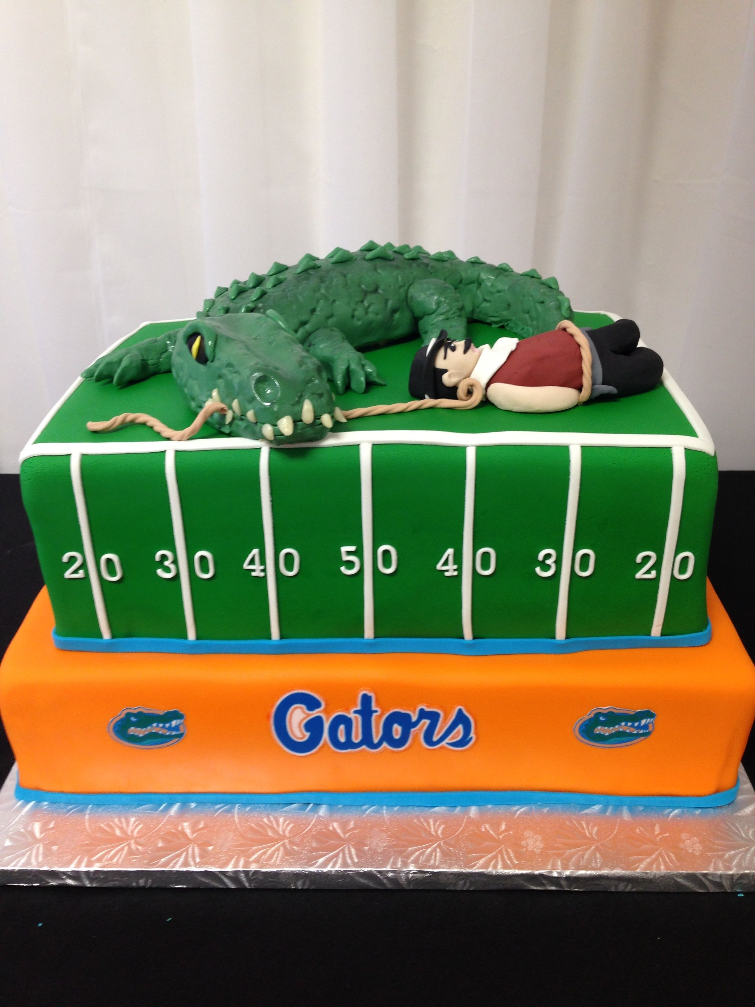 UF Gators Vs New Mexico State Beautiful Wedding Cakes Custom Birthday Cake