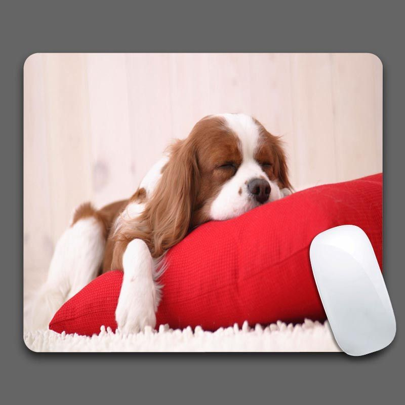 Sleeping Spaniel Puppy Mouse Pads Computer Gaming Mouse Pads