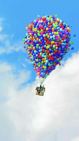 Up Balloon House With Images Disney Wallpaper Wallpaper