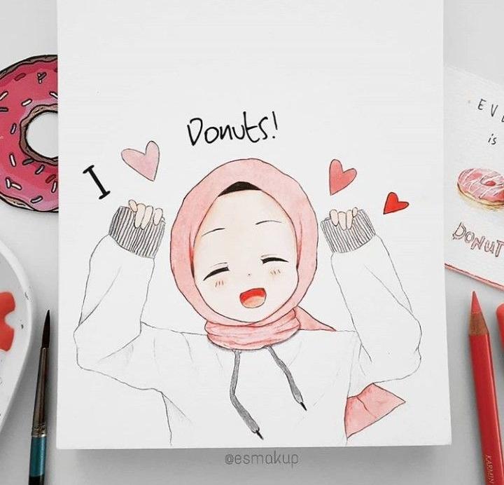 Pin oleh Aliifah Ghassanii di Drawing Seni islamis, Ide