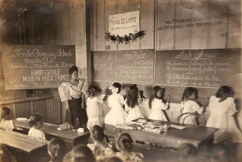 Tondo Primary School, Manila, Philippine Island. circa