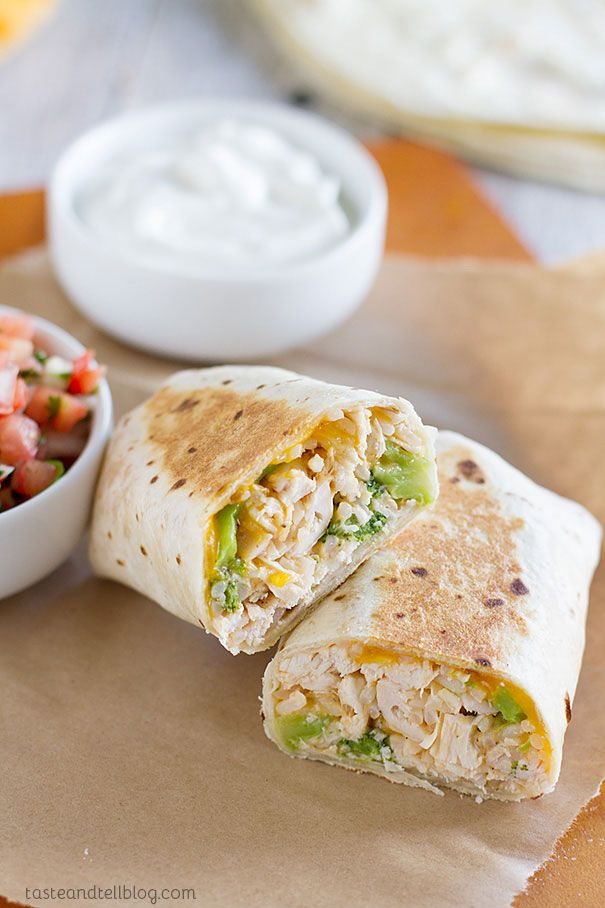 Chicken And Broccoli Grilled Burritos Taste And Tell Recipe Recipes Food Cooking Recipes