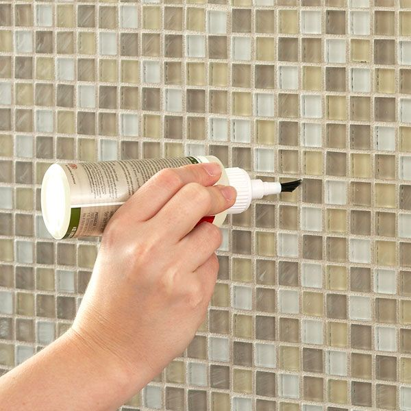 Seal Grout Between The Glass Tiles Glass Tile Sealing Grout Glass Tile Backsplash