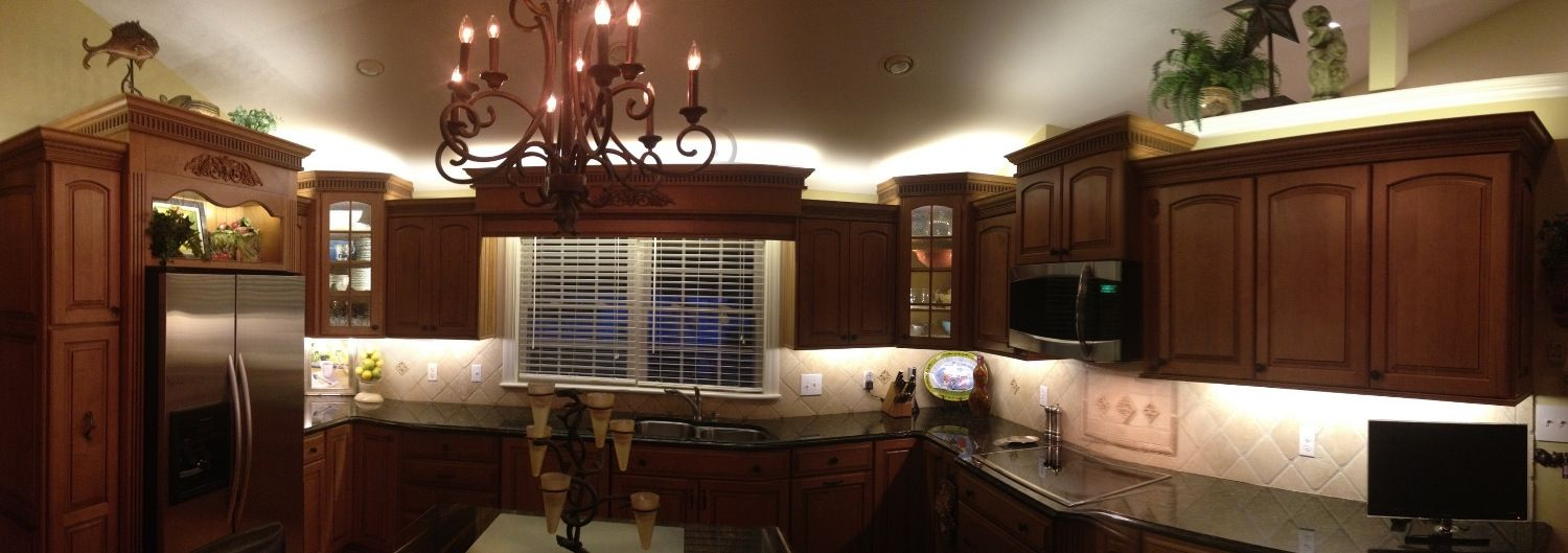 Le Lights Above Kitchen Cabinets Quail