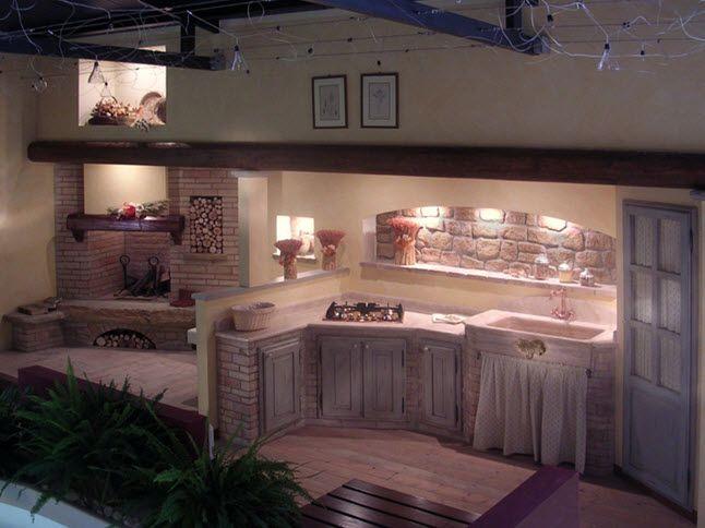 Cucine in muratura cucine pinterest cocinas cocinas r sticas e muebles - Idee decoro casa ...