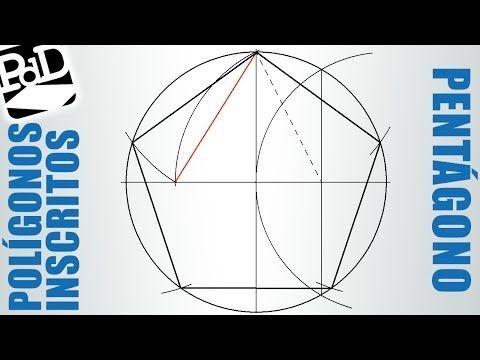 Pentágono Regular Inscrito En Una Circunferencia Polígonos Regulares Cicunscritos Youtube Polígono Regular Como Hacer Un Pentagono Geometría Plana