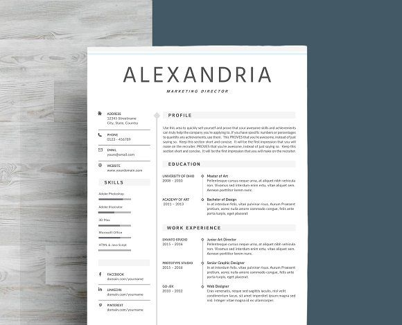 resume template  u0026 cover letter by myresume on