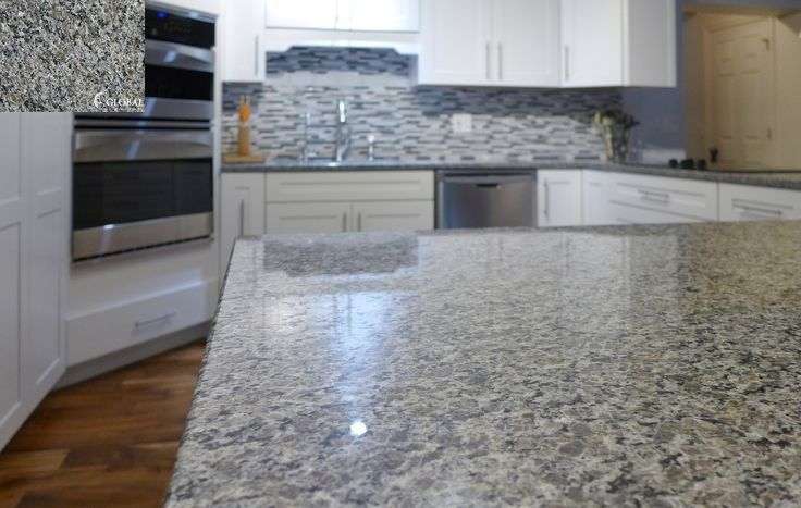 3 Caledonia Granite Top Left Is A Sample And The Background It