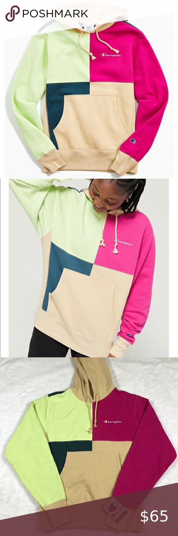 Nwt Champion Colorblock Hoodie Sweatshirt Green S Nwt Champion Hoodie Small Colorblock Color Block Patchwork Patch Patch Sweatshirts Hoodie Sweatshirts Hoodies [ 1740 x 580 Pixel ]