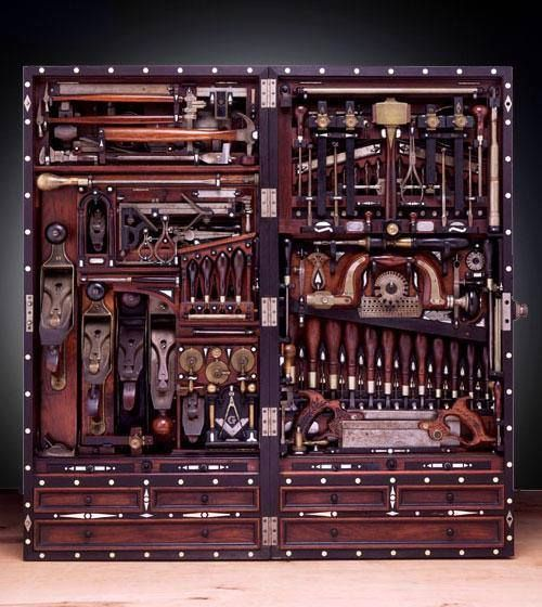 A 19th Century Pianomaker's Tool Chest