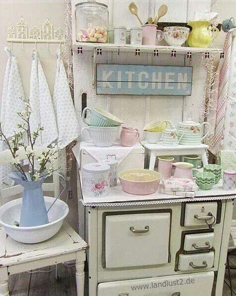 Decorating Ideas > 32 Sweet Shabby Chic Kitchen Decor Ideas To Try  Home  ~ 101818_Kitchen Decor Ideas Shabby Chic