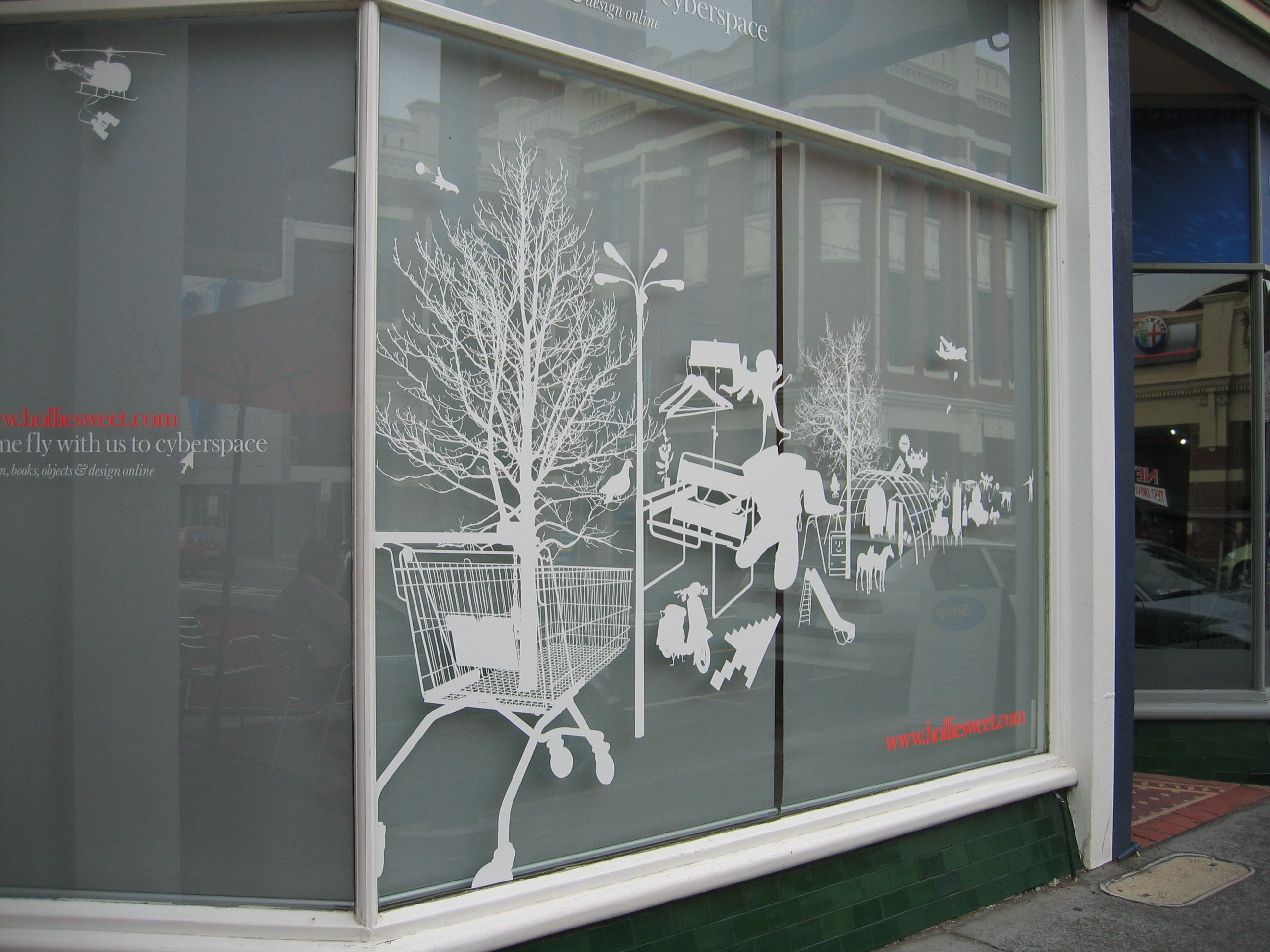 Artful Eye catching window decal inspiration.   Window graphics ...