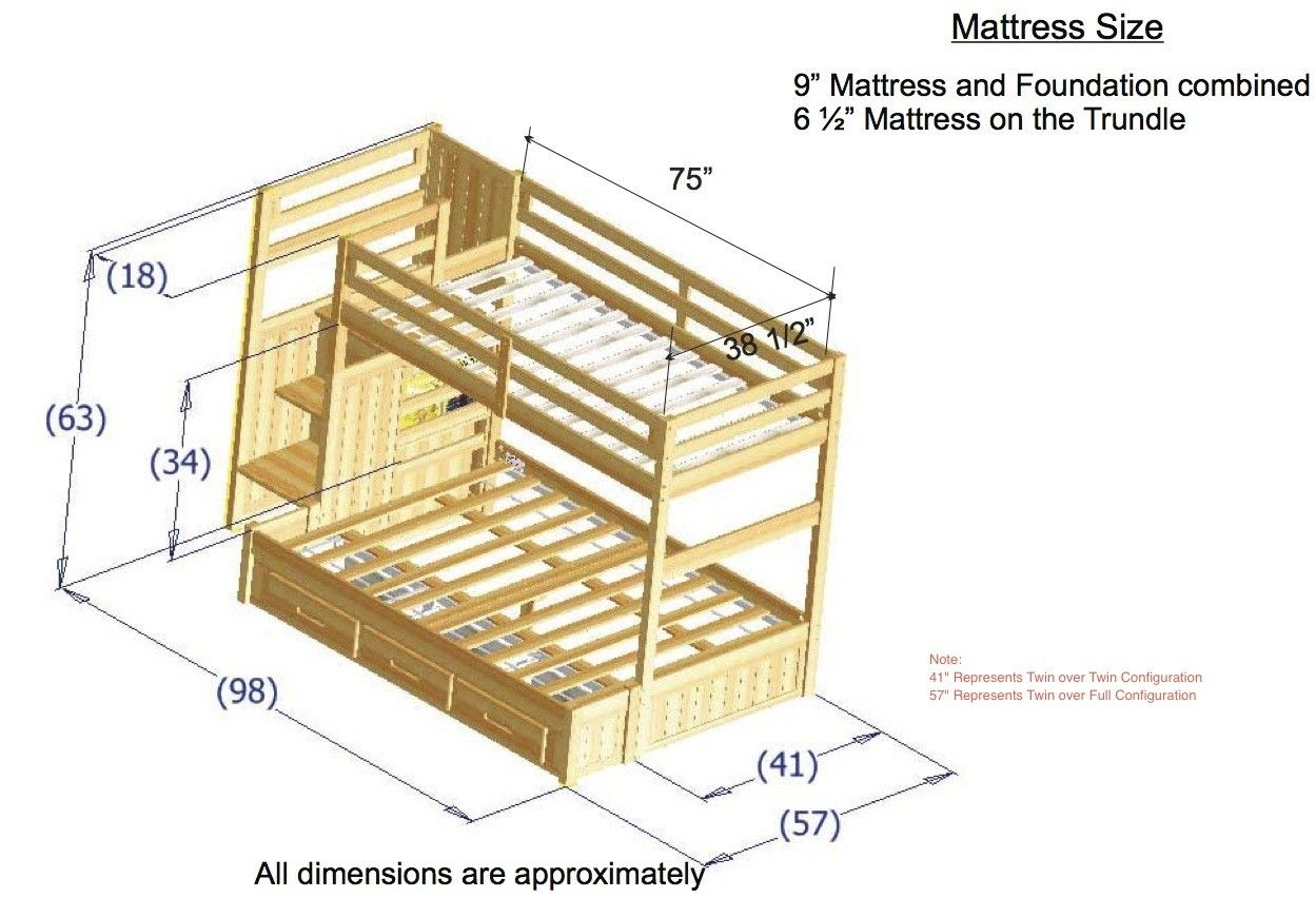 Bunk Bed Plans Twin Over Full Google Search Bunk Bed Plans