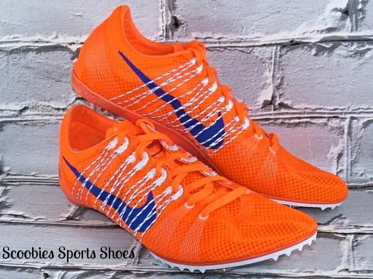 cc446e84ec4 Nike Victory 2 Distance Track Running Spikes Size 11.5 Orange Blue  Nike