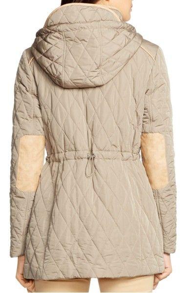 Main Image - Lauren Ralph Lauren Hooded Quilted Drawstring Waist Jacket |  Overtøj | Pinterest | Drawstring waist, Diamond quilt and Nordstrom