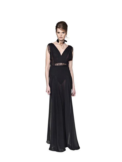 LOOK855 malene birger black lace