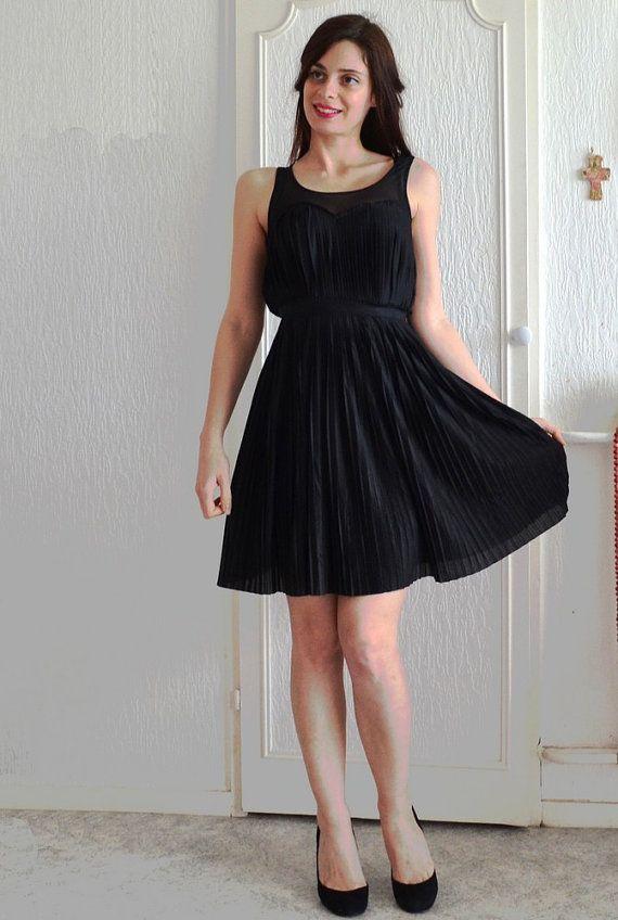 Little Black Dress Style Retro Empire Waist By Virginievintage