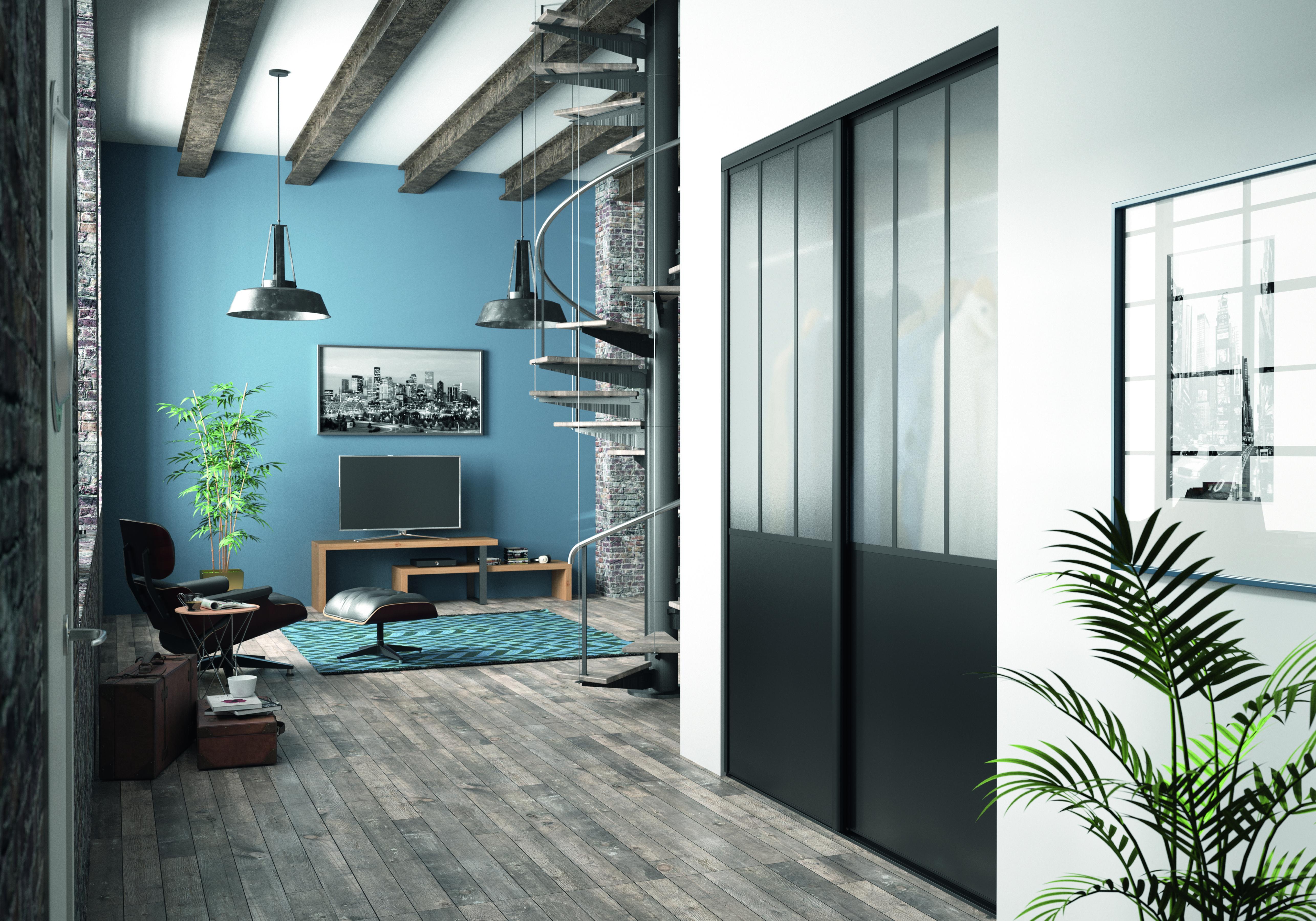 Le Style Atelier S Impose Des L Entree Avec Les Facades De Placard Kazed Placard Deco Tendance Entree Placard Coulissant Vitre Porte Coulissante