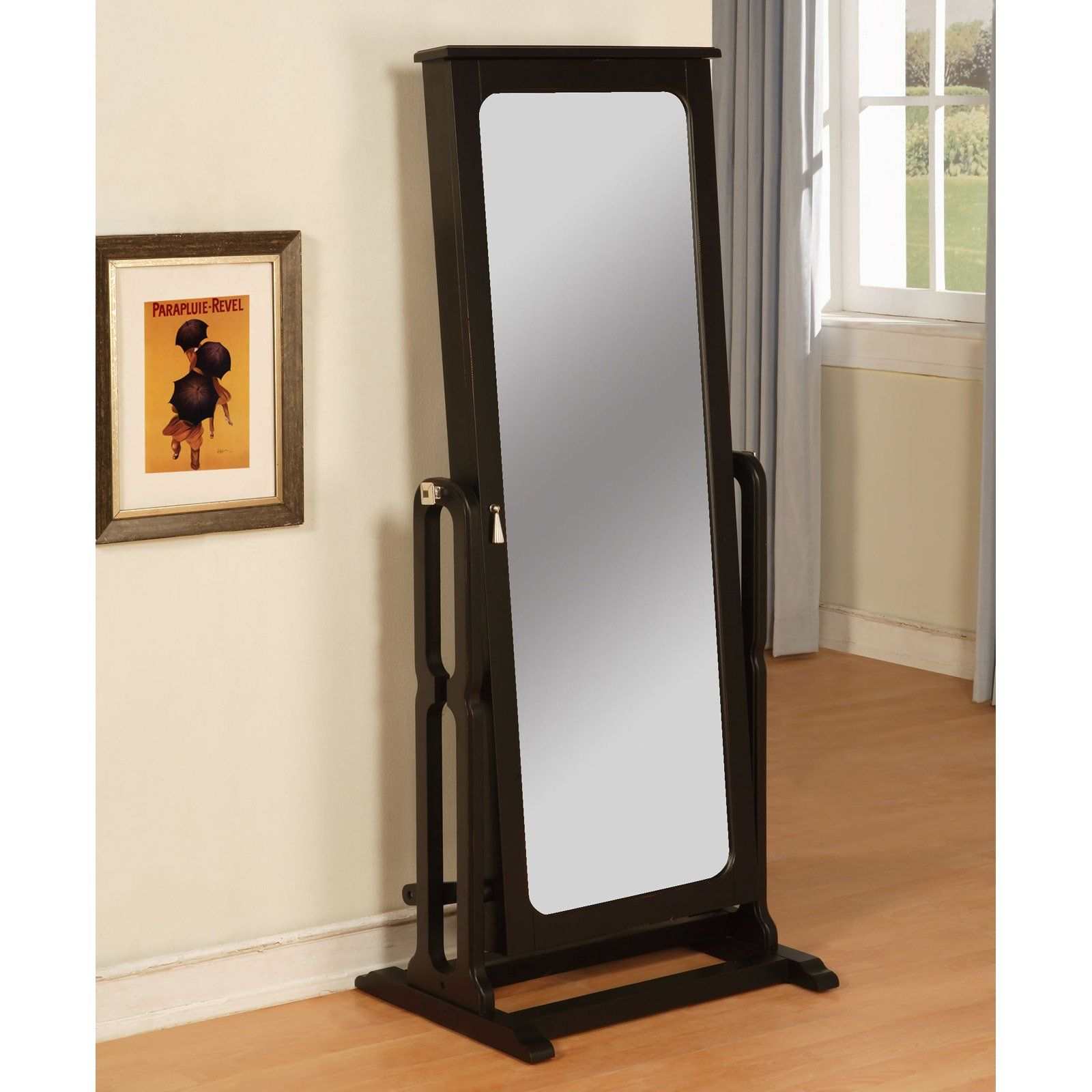 Have to have it Antique Black Cheval Mirror Jewelry Armoire 26L x