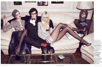 Le Smoking: Nadja Bender Channels 70s YSL for Mariano Vivanco in Vogue Russia - BACKYARD OPERA
