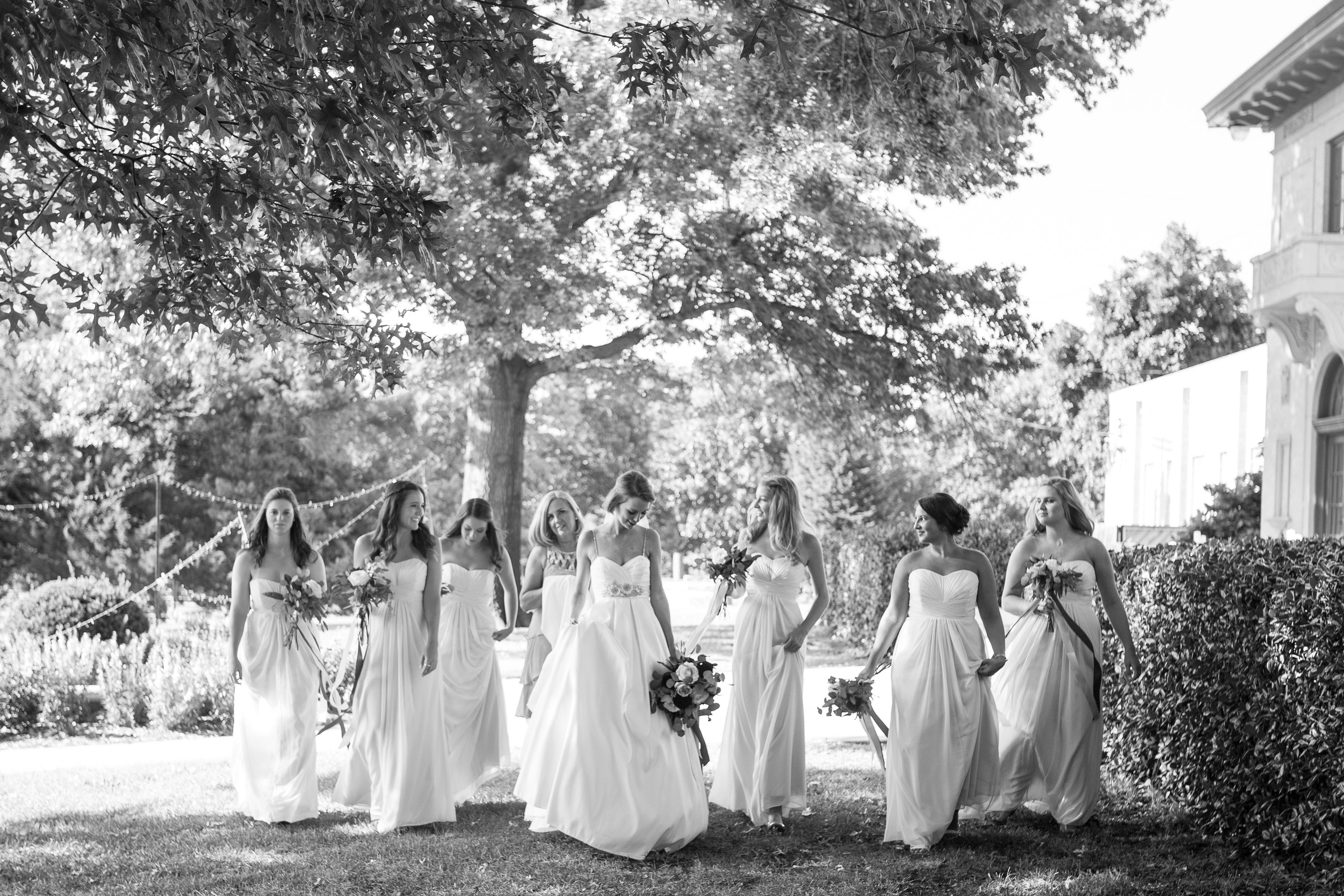 Walking Bridesmaids Outdoor Photo Beautiful Exchange Photography Tulsa, OK  Wedding Tulsa Garden Center