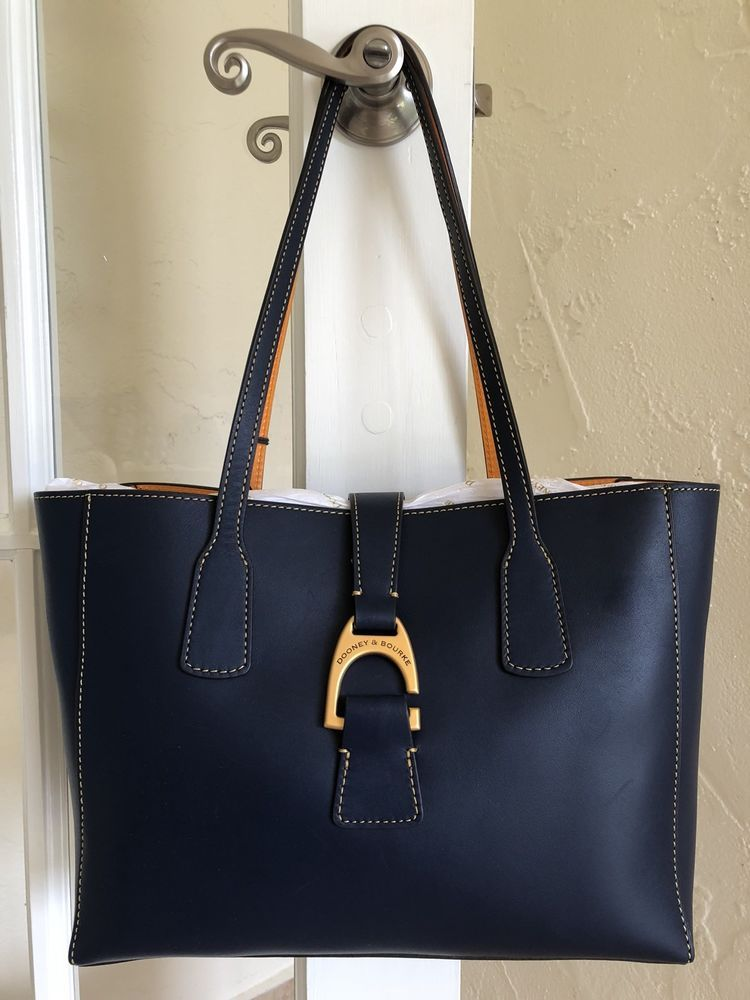 e2587d0ba6b1 Dooney   Bourke Emerson Small Shannon Tote Midnight Blue Leather in ...