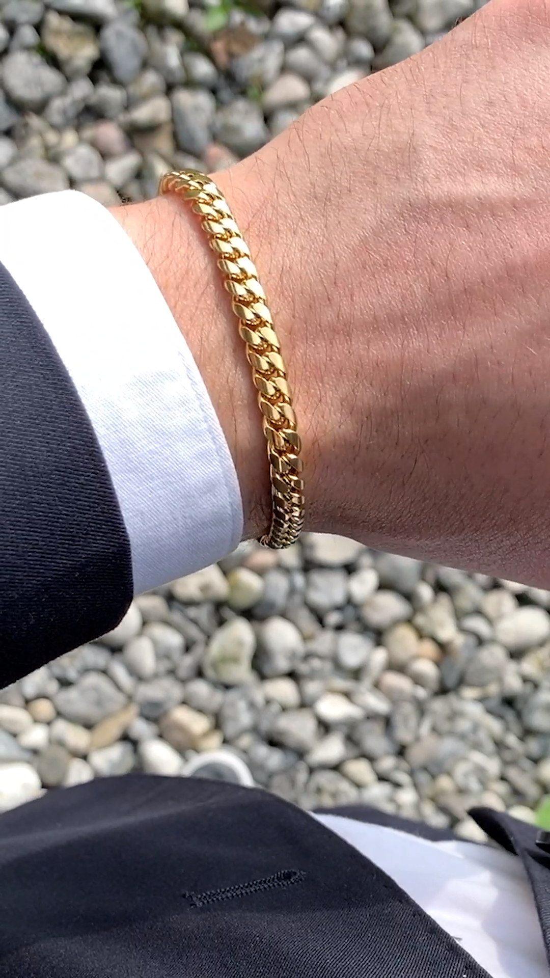 6mm Gold Tone Chain Bracelet In Stock Fort Tempus Video Video Mens Bracelet Gold Jewelry Mens Gold Bracelets Mens Gold Jewelry