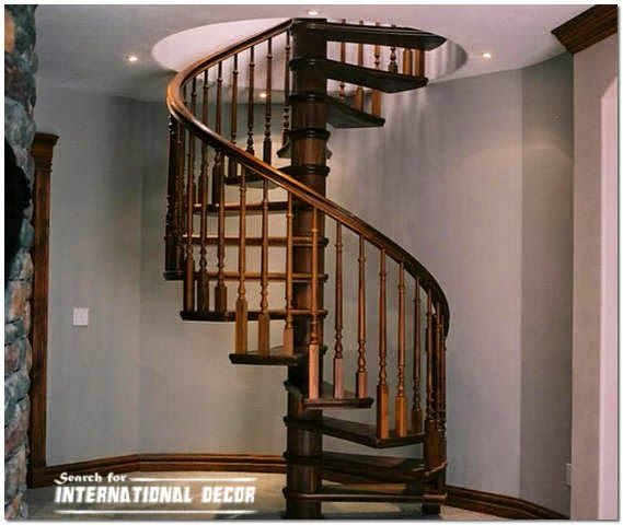 Spiral Staircase To The Second Floor Or Attic In A Private Home Installing A Spiral Staircase