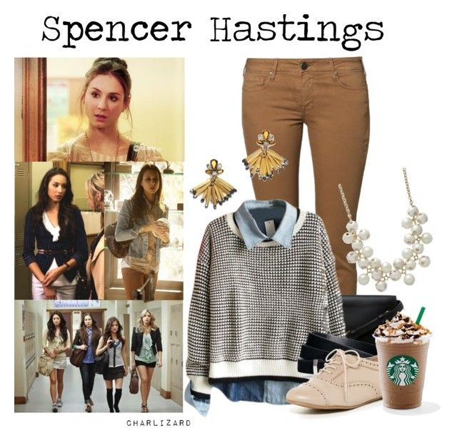 """""""21/50. Spencer Hastings"""" by charlizard ❤ liked on Polyvore featuring CIMARRON, 3.1 Phillip Lim, Kate Spade, H&M, ALDO, J.Crew, PrettyLittleLiars and spencerhastings"""