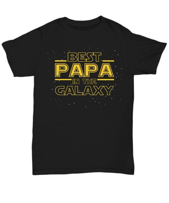 Papa Shirt Gift, Best Papa in the Galaxy, Papa T Shirt Tee, Grandparent Grandfather Grandpa Papa To Be Announcement or Father's Day Gift #papashirts