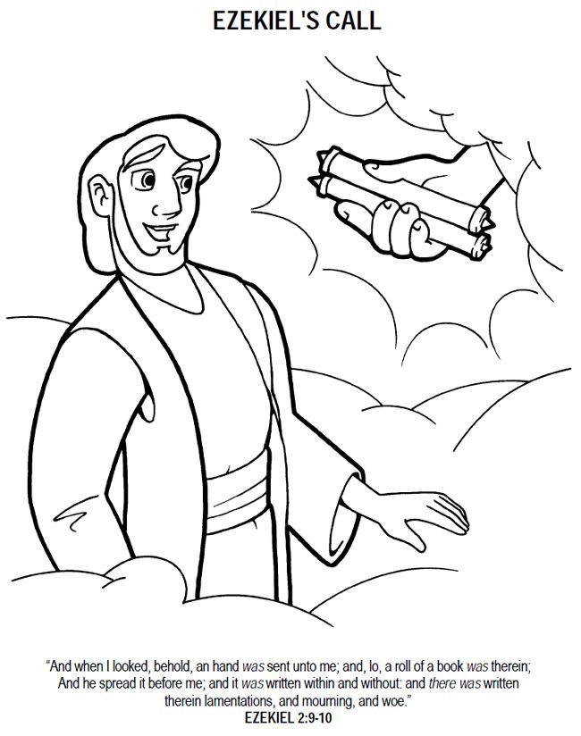Ezekiel and the valley of dry bones coloring page Our Bible - fresh coloring pages for the birth of jesus
