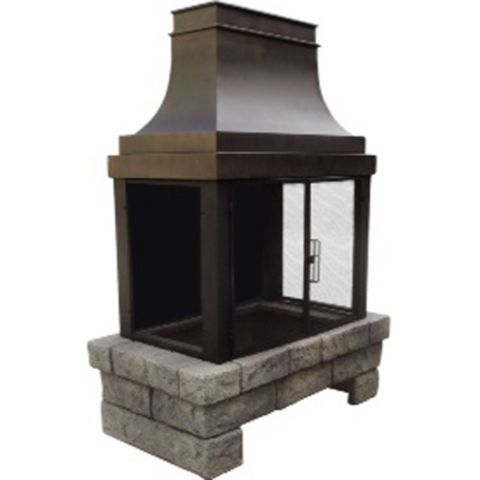 Outdoor Fireplace Bond Newbury Outdoor Wood Burning Fireplace Tractor  Supply Co