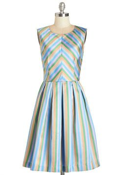 Radiant Ribbons Dress. Youre sure to skip confidently through your day when you don this multicolored pastel, ribbon-covered party dress by Bea  Dot! #multi #modcloth