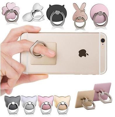 Pink Pop-Up Finger Ring Phone Stand