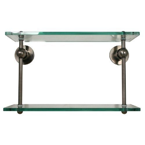 Ap 2 Style 22 Double Glass Shelf Polished Nickel By Allied