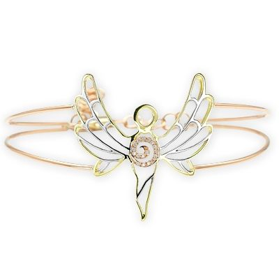 Pırlantalı Huzur Meleği Azrail Altın Bileklik, meleklerin ışığı, altın bileklik, melek bileklik