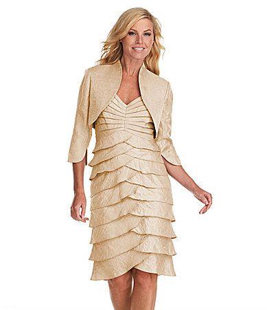 Adrianna Papell Tiered Bolero Jacket Dress #Dillards Item ...