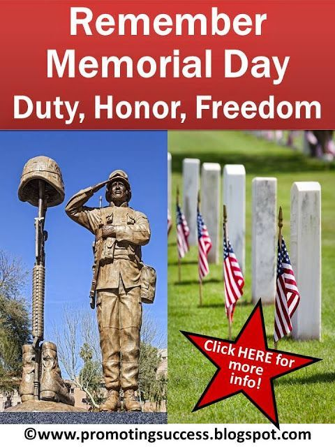 Memorial Day for Kids: Here are a few things to share with your students before you send them off Friday afternoon for their three day weekend